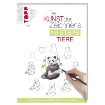 """Buch """"Die Kunst des Zeichnens 10 Steps - Tiere"""""""