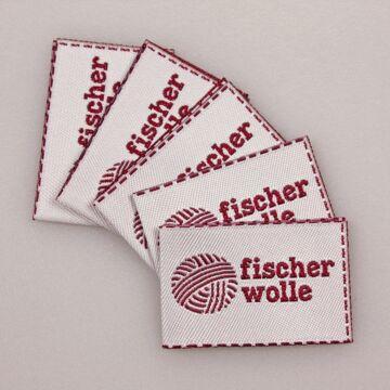 """5 """"Fischer Wolle"""" Label"""