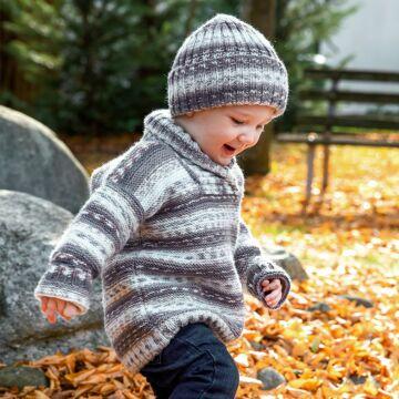 "Kinderpullover mit Mütze ""Baby Color"" 761088"