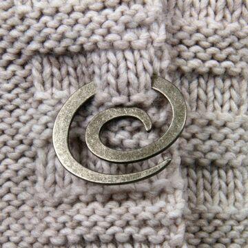 """Metallschließe """"Spirale"""""""