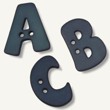 Alphabetknopf blau (einzeln)