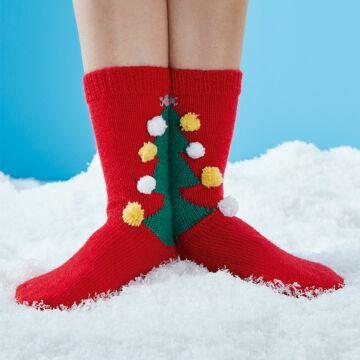 """Socken mit Weihnachtsbaum """"Regia & Feinstrumpf"""" SM2265"""