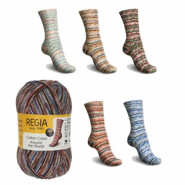 "600g Sparpaket ""Regia 4f. Cotton Color - Around the World"""
